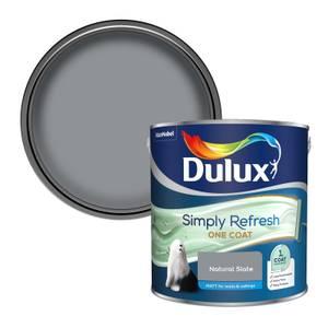 Dulux Simply Refresh One Coat Matt Emulsion Paint - Natural Slate - 2.5L