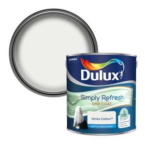 Dulux Simply Refresh One Coat Matt Emulsion Paint - White Cotton - 2.5L