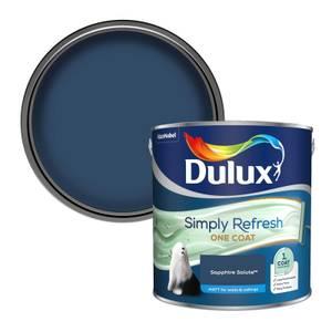 Dulux Simply Refresh One Coat Matt Emulsion Paint - Sapphire Salute - 2.5L