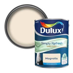 Dulux Simply Refresh One Coat Matt Emulsion Paint - Magnolia - 5L