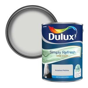 Dulux Simply Refresh One Coat Matt Emulsion Paint - Polished Pebble - 5L