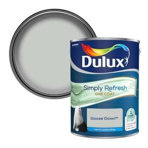 Dulux Simply Refresh One Coat Matt Emulsion Paint - Goose Down - 5L