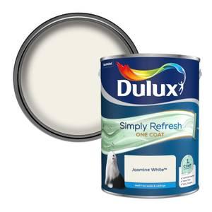 Dulux Simply Refresh One Coat Matt Emulsion Paint - Jasmine White - 5L
