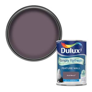 Dulux Simply Refresh Feature Wall One Coat Matt Emulsion Paint - Acai Berry - 1.25L