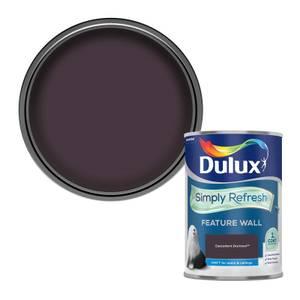 Dulux Simply Refresh Feature Wall One Coat Matt Emulsion Paint - Decadent Damson - 1.25L