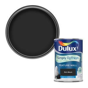 Dulux Simply Refresh Feature Wall One Coat Matt Emulsion Paint - Rich Black - 1.25L