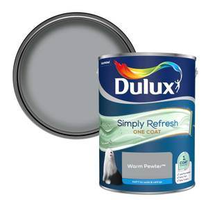 Dulux Simply Refresh One Coat Matt Emulsion Paint - Warm Pewter - 5L