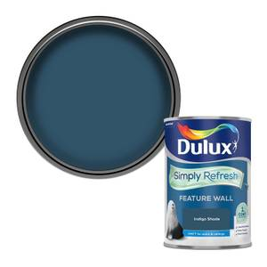 Dulux Simply Refresh Feature Wall One Coat Matt Emulsion Paint - Indigo Shade - 1.25L
