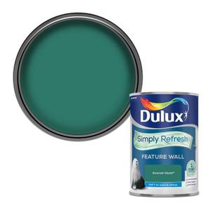 Dulux Simply Refresh Feature Wall One Coat Matt Emulsion Paint - Emerald Glade - 1.25L