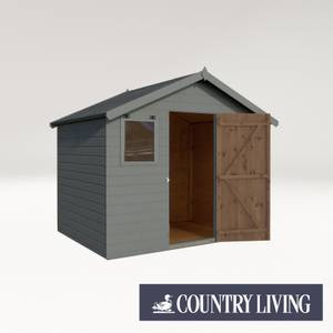 Country Living Weston 6 x 8 Premium Pressure Treated Shiplap T&G Apex Painted + Installation - Thorpe Towers