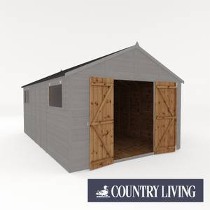 Country Living Sibson 16 x 10 Premium Pressure Treated Shiplap T&G Modular Workshop Painted + Installation - Thorpe Towers