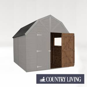 Country Living Appleby 10 x 8 Premium Pressure Treated Shiplap T&G Dutch Barn Painted + Installation - Thorpe Grey