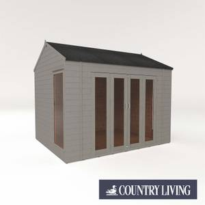 Country Living Hawksworth 10 x 8 Summerhouse Painted + Installation - Thorpe Towers