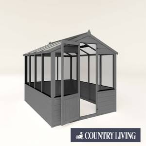 Country Living Kelham 8 x 6 Traditional Greenhouse Painted + Installation - Thorpe Towers