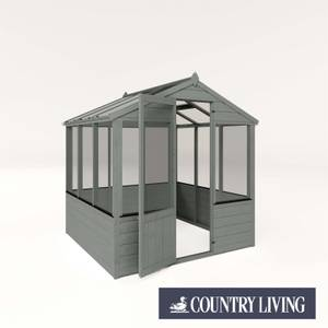 Country Living Kelham 6 x 6 Traditional Greenhouse Painted + Installation - Thorpe Towers