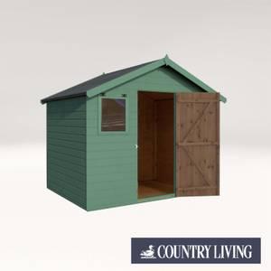 Country Living Weston 6 x 8 Premium Pressure Treated Shiplap T&G Apex Painted + Installation - Aurora Green