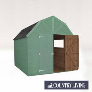 Country Living Appleby 8 x 8 Premium Pressure Treated Shiplap T&G Dutch Barn Painted + Installation - Aurora Green