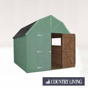 Country Living Appleby 8 x 8 Premium Pressure Treated Shiplap T&G Dutch Barn Painted + Installation - Aurora Green