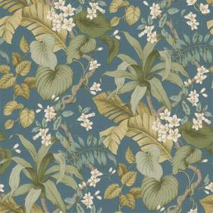 Grandeco Boutique Clarence Vesoule Blue Wallpaper