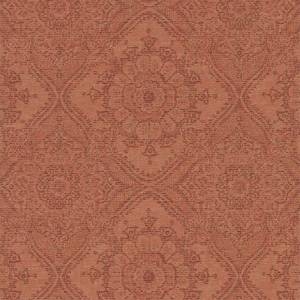 Grandeco Boutique Clarence Saran Orange Wallpaper