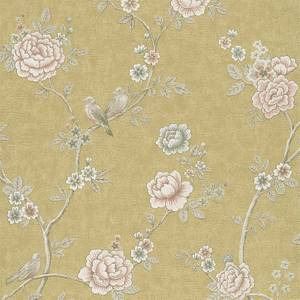 Grandeco Boutique Clarence Toulouse Green Wallpaper