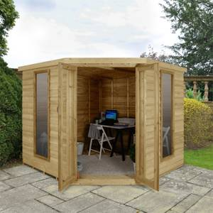 Oakley Overlap Corner Summerhouse 8x8ft