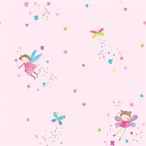 Arthouse Fairy Dust Kids Smooth Glitter Pink Wallpaper