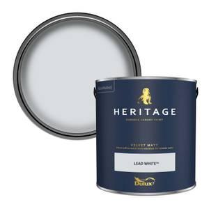 Dulux Heritage Matt Emulsion Paint - Lead White - 2.5L