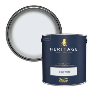 Dulux Heritage Matt Emulsion Paint - Chalk White - 2.5L