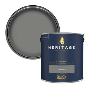 Dulux Heritage Matt Emulsion Paint - Lead Grey - 2.5L