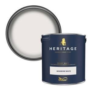 Dulux Heritage Matt Emulsion Paint - Wishbone White - 2.5L