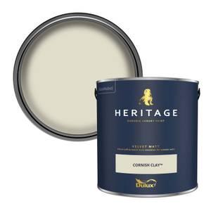 Dulux Heritage Matt Emulsion Paint - Cornish Clay - 2.5L