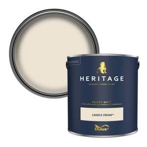 Dulux Heritage Matt Emulsion Paint - Candle Cream - 2.5L