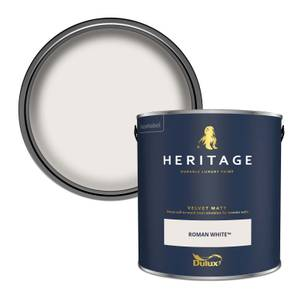 Dulux Heritage Matt Emulsion Paint - Roman White - 2.5L
