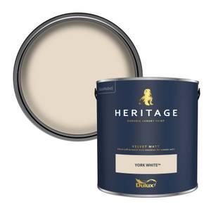 Dulux Heritage Matt Emulsion Paint - York White - 2.5L