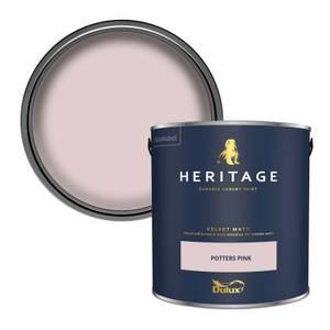 Dulux Heritage Matt Emulsion Paint - Potters Pink - 2.5L