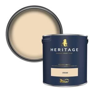 Dulux Heritage Matt Emulsion Paint - Cream - 2.5L