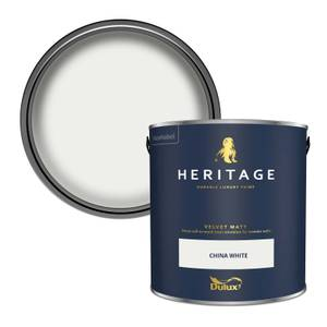 Dulux Heritage Matt Emulsion Paint - China White - 2.5L