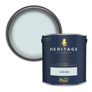 Dulux Heritage Matt Emulsion Paint - Clear Skies - 2.5L