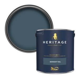 Dulux Heritage Matt Emulsion Paint - Midnight Teal - 2.5L