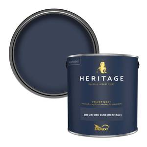 Dulux Heritage Matt Emulsion Paint -DH Oxford Blue - 2.5L