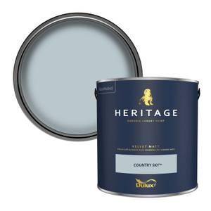 Dulux Heritage Matt Emulsion Paint - Country Sky - 2.5L