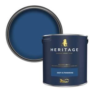 Dulux Heritage Matt Emulsion Paint - Deep Ultramarine - 2.5L