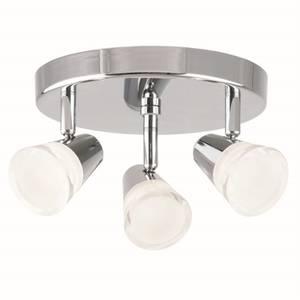 Rhea 3 lamp spotlight, plate, polished chrome