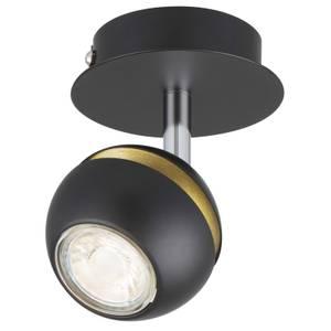 Austin Single Lamp Spotlight - Black & Gold