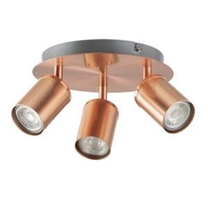 Rose 3 Lamp Spotlight Plate - Rose Gold