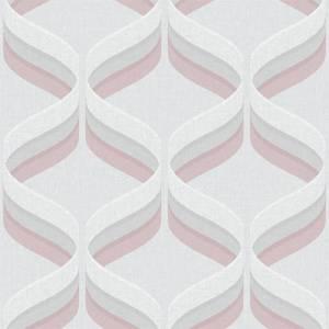 Fresco Geometric Smooth Pink Wallpaper