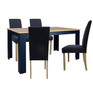 Marcy 4 Seater Dining Set - Midnight