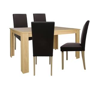 Marcy 4 Seater Dining Set - Oak