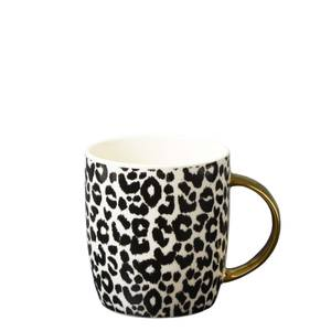 New Bone China Barrel Mug in Leapord Print